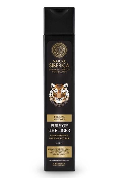 Mužský prírodný šampón na telo aj vlasy 2v1 Zúrivosť Tigra