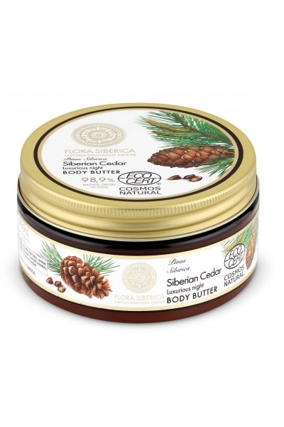 Luxusné nočné telové maslo - Sibírsky céder 300 ml