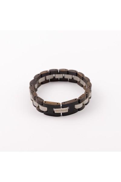 Drevený náramok na ruku pre mužov aj ženy - Čierny santal