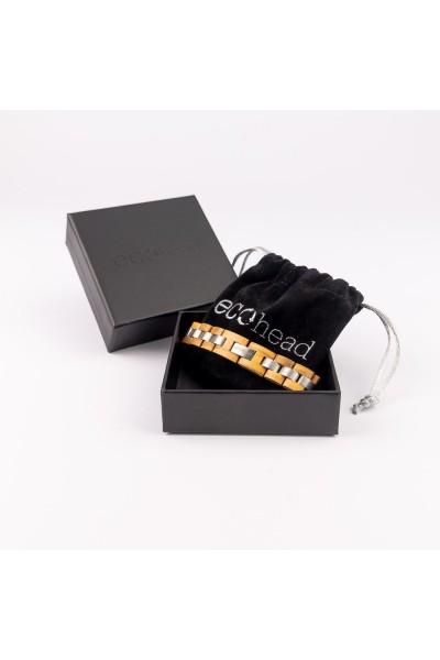 Drevený náramok na ruku Biely mních v darčekovej krabičke
