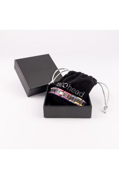 Drevený náramok na ruku pre mužov aj ženy - Ebenová dúha v krabičke