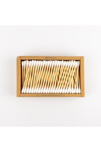 Hygienické tyčinky do uší - bambus a bavlna 200 kusov