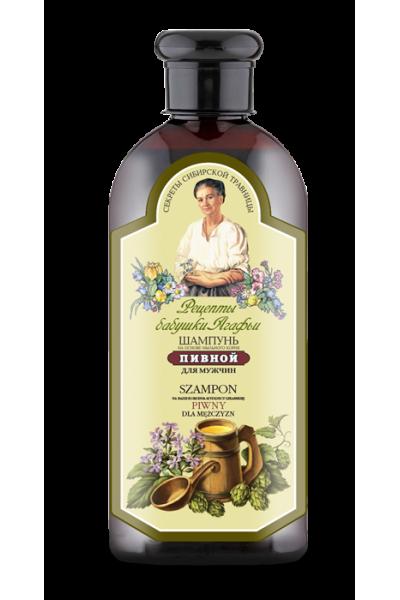 Natura Siberica Agafja pivový šampón pre mužov 350 ml