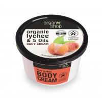 Organic Shop Organic Shop - Ružové Liči - Telový krém 250 ml 250 ml