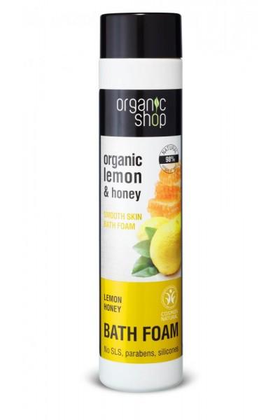 Natura Siberica Organic Shop - Citrón a Med - Vyhladzujúca pena do kúpeľa 500 ml