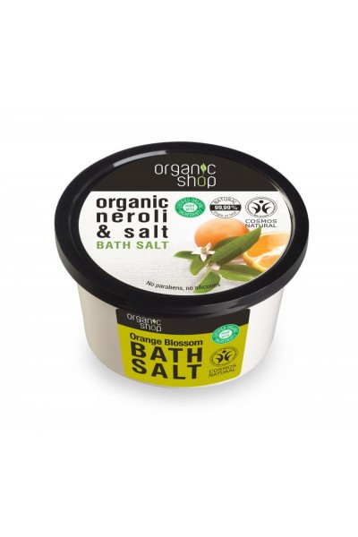 Organic Shop Organic Shop - Kvet pomarančovníka - Soľ do kúpeľa 250 ml 250 ml