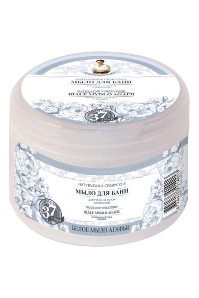 Natura Siberica Agafja husté sibírske biele mydlo na telo a vlasy 500 ml