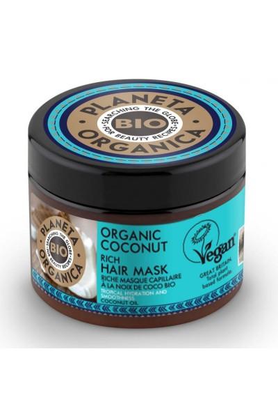 Natura Siberica Bohatá maska na vlasy Kokosový orech 300 ml