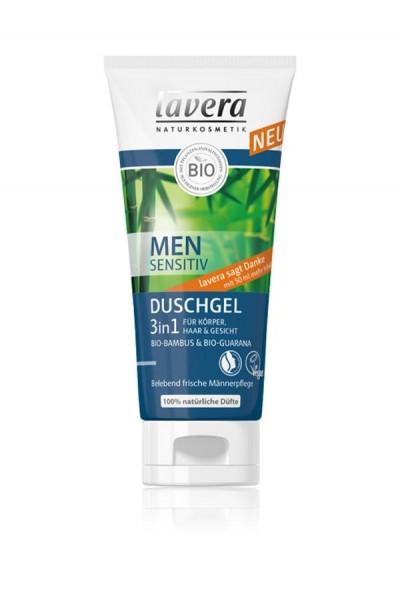 Lavera Osviežujúci vlasový a telový šampón 3 v 1 pre mužov 200 ml