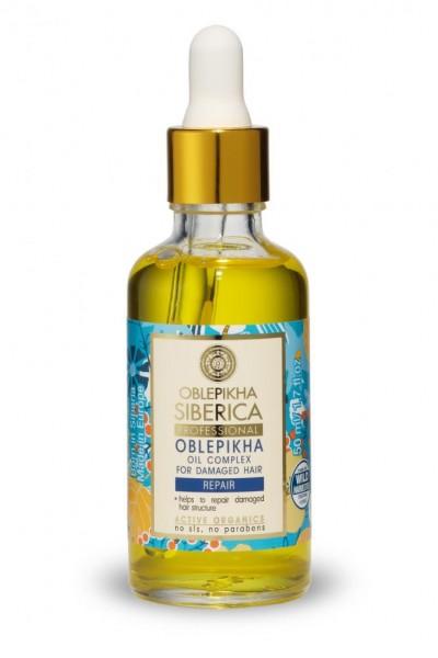 Natura Siberica Rakytníkový olejový komplex pre poškodené vlasy 50 ml