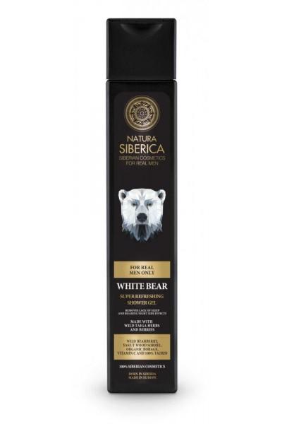 Natura Siberica Osviežujúci sprchový gél Biely Medveď 250 ml