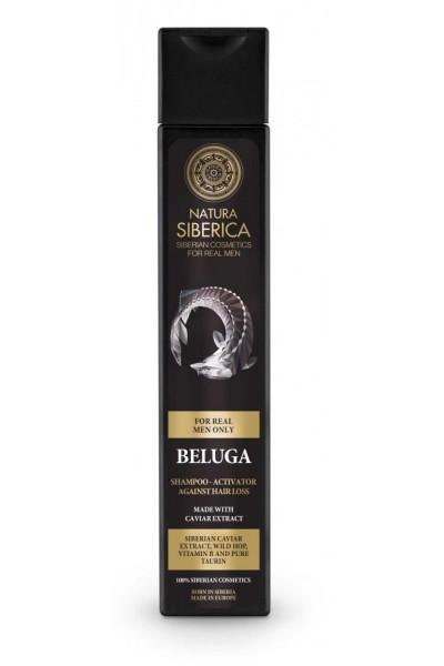Natura Siberica Šampón - aktivátor proti vypadávaniu vlasov Beluga 250 ml