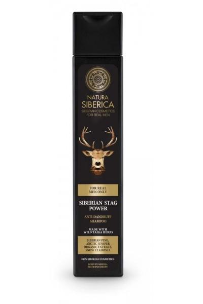 Natura Siberica Šampón proti lupinám Sibírsky jeleň 250 ml