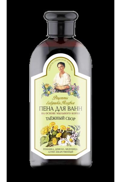 Natura Siberica Agafja Taiga pena do kúpeľa s mydlicou a harmančekom 500 ml