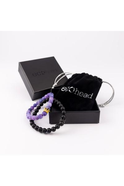 Ecohead Náramok - Double Violet s krabičkou gift box