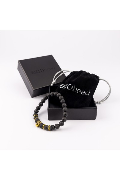 Ecohead Náramok - Golden Skull s krabičkou gift box