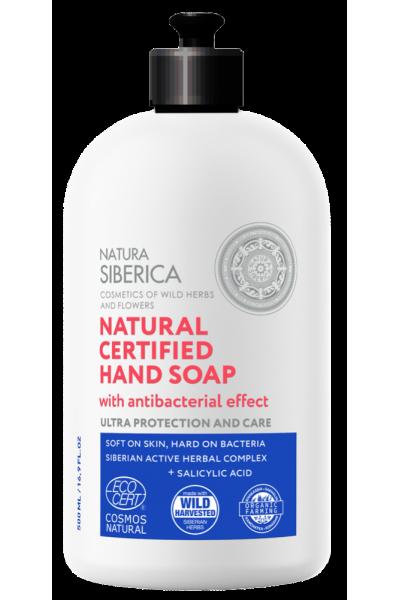 Natura Siberica Prírodné certifikované mydlo na ruky s antibakteriálnym účinkom 500 ml