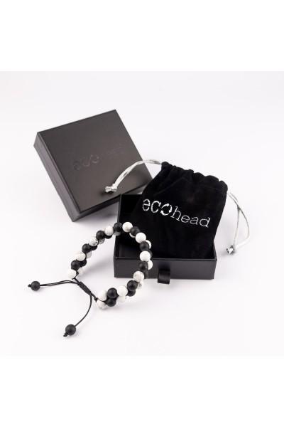 Ecohead Náramok - Black and White s krabičkou gift box