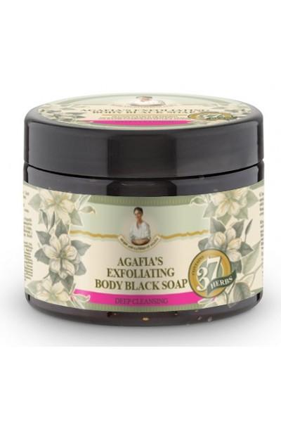 Natura Siberica Agafja exfoliačné telové čierne mydlo 300 ml