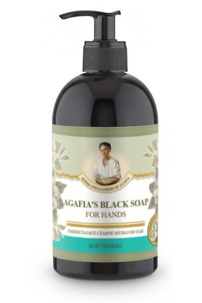 Natura Siberica Agafja zjemňujúce čierne mydlo na ruky 500 ml