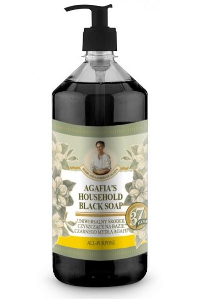 Natura Siberica Agafja viacúčelové čierne mydlo do domácnosti 1000 ml