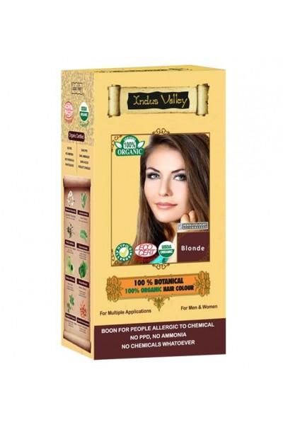 Indus Valley 100% Rastlinná, 100% Organická farba na vlasy Blond 120 g