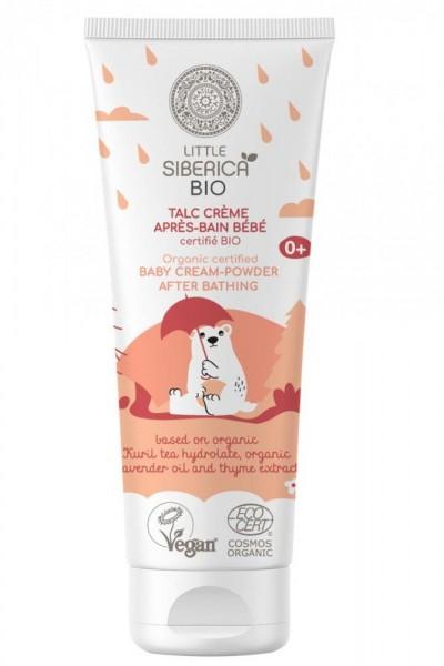 Natura Siberica Organický certifikovaný detský krém-púder po kúpaní  75 ml