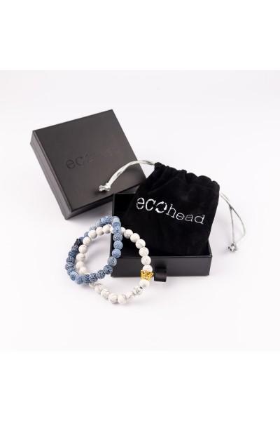 Ecohead Náramok - Double Marble s krabičkou gift box