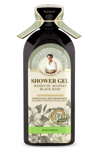Natura Siberica Agafja hydratačný sprchový gél na báze čierneho mydla 350 ml