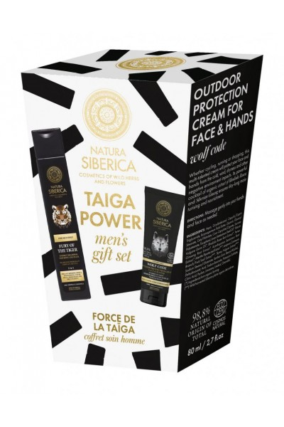 Natura Siberica Pánsky darčekový set - Taiga power 250 ml + 80 ml