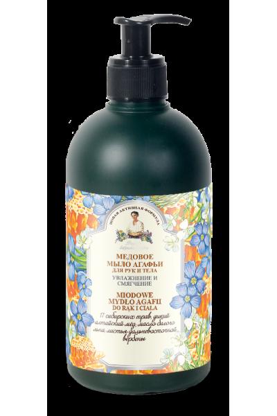 Natura Siberica Agafja medové mydlo na telo a ruky 500 ml