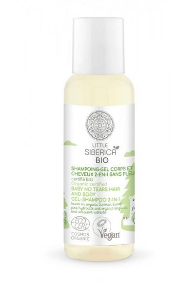 Natura Siberica Little Siberica - cestovné balenie -  2v1 Bez sĺz detský gél-šampón na vlasy a telo  50 ml