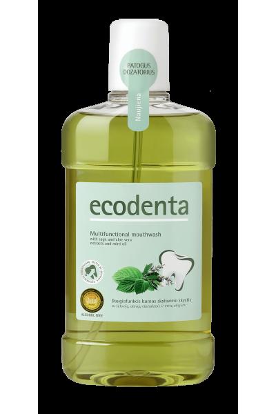Ecodenta Multifunkčná ústna voda - Šalvia & Aloe Vera & Mätový olej 500 ml