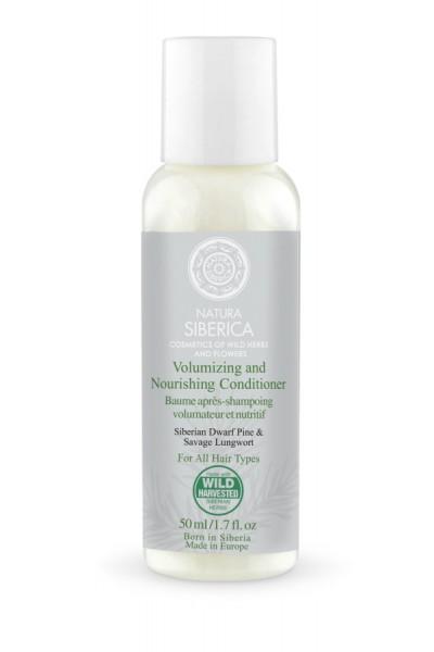 Natura Siberica Kondicionér - Objem a starostlivosť pre všetky typy vlasov - Cestovné balenie 50 ml