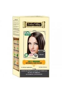 Indus Valley Akcia spotreba: 08/2021 100% Rastlinná, 100% Organická farba na vlasy Hnedá 120 g