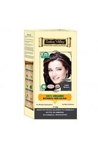Indus Valley Akcia Spotreba 8/2021  100% Rastlinná, 100% Organická farba na vlasy Svetlohnedá-1 120 g