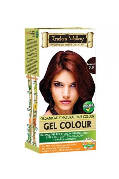Indus Valley Gélová farba na vlasy Burgundská 3.6 20g+120ml+50ml+30ml