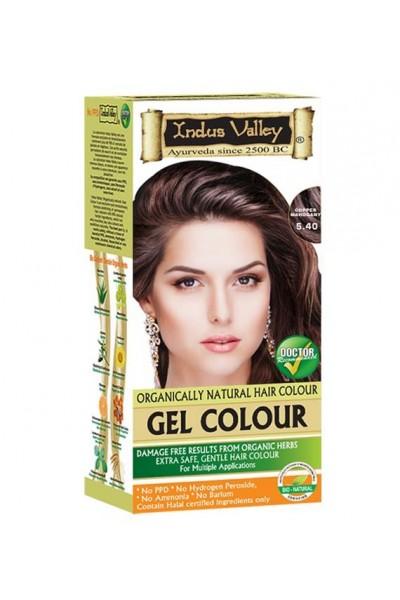 Indus Valley Gélová farba na vlasy Mahagónová 5.4 20g+120ml+50ml+30ml