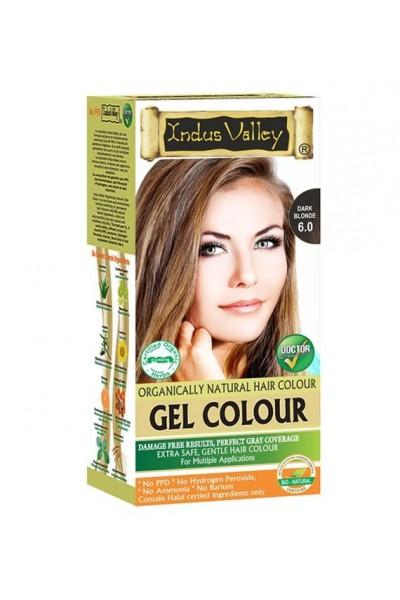 Indus Valley Gélová farba na vlasy Tmavá Blond 6.0 20g+120ml+50ml+30ml