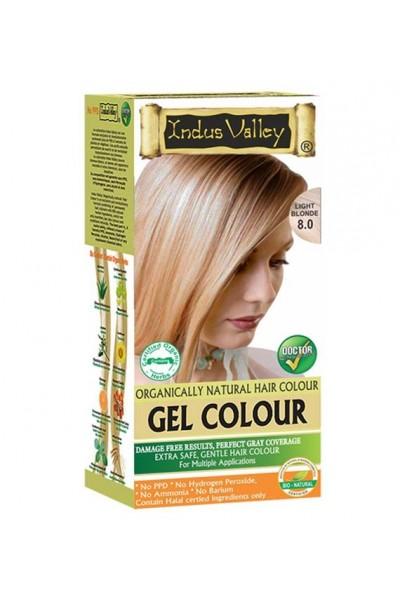Indus Valley Gélová farba na vlasy Svetlá Blond 8.0 20g+120ml+50ml+30ml