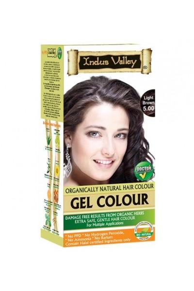 Indus Valley Gélová farba na vlasy Svetlohnedá 5.0 20g+120ml+50ml+30ml