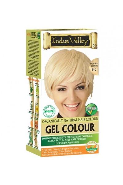 Indus Valley Gelová farba na vlasy Blond 9.0 20g+120ml+50ml+30ml