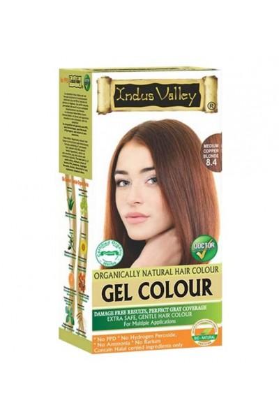 Indus Valley Gélová farba na vlasy Stredná Medená Blond 8.4 20g+120ml+50ml+30ml
