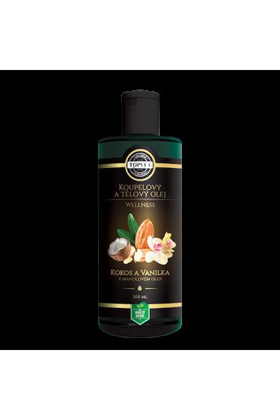 TOPVET Kokos a vanilka v mandľovom oleji 200ml 200 ml