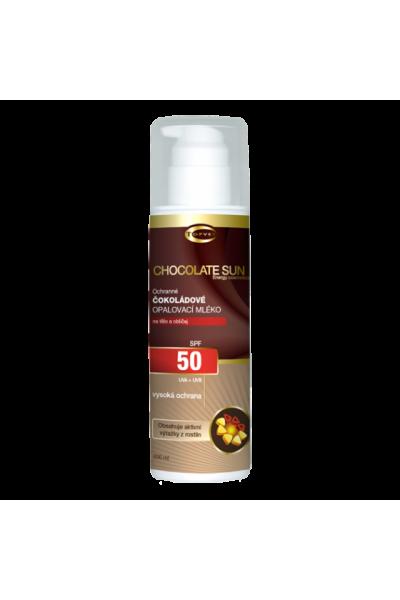 TOPVET Čokoládové opaľovacie mlieko OF 50 200 ml 200 ml