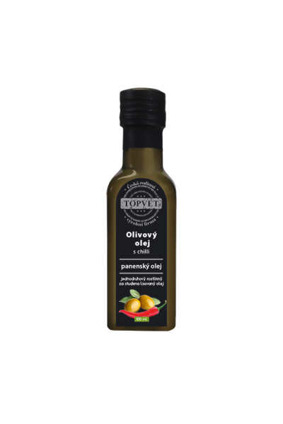 TOPVET Olivový olej s chilli 100ml 100 ml