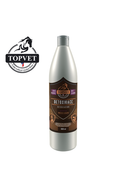 TOPVET Sirup Detoxikácia 1000ml - pre kone 1000 ml