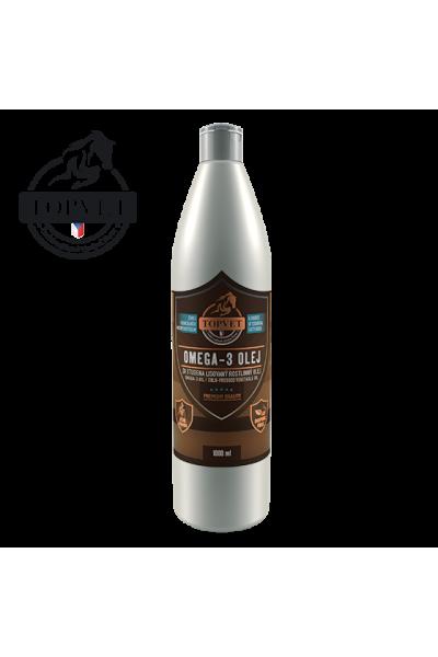 TOPVET Omega-3 olej 1000ml - pre kone 1000 ml